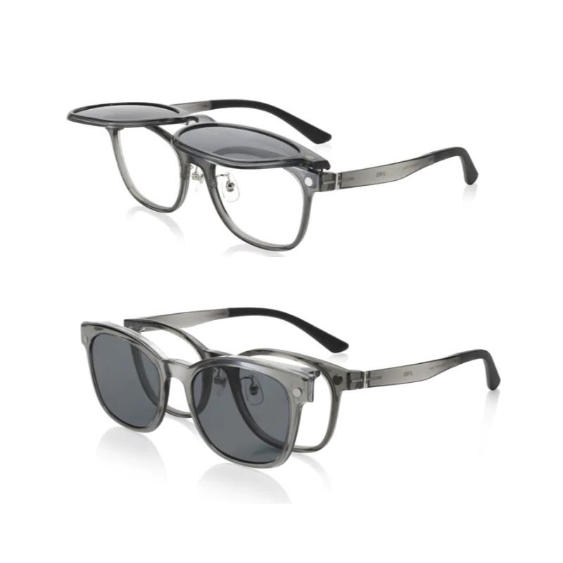 これ1本でメガネにもサングラスにも!掛けたまま切り替えられてすごく便利。